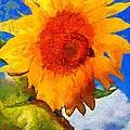 Sunflower - Bee Happy by Janine Riley