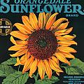 Sunflower Brand Crate Label by Label Art