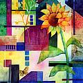 Sunflower Collage 2 by Hailey E Herrera