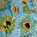 Sunflower Cycle Of Life 1 by Vicky Tarcau