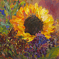 Sunflower Dance Original Painting Impressionist by Quin Sweetman