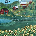 Sunflower Farm by Virginia Coyle