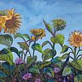 Sunflower Field by Karen Nell McKean