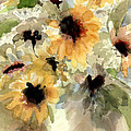 Sunflower Impressions by Rebecca Zdybel