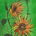 Sunflower by Margaryta Yermolayeva