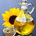 Sunflower Oil Bottle by Elena Elisseeva