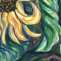 Sunflower One Panel Four Of Four by Linda Mears