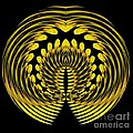Sunflower Polar Coordinate Effect 1 by Rose Santuci-Sofranko