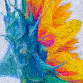 Sunflower Profile Impressionism by Heidi Smith