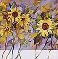 Sunflower Stems by Jackie Friesth