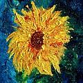 Sunflower - Tribute To Vangogh by Robin Monroe