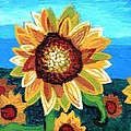 Sunflowers And Blue Sky by Genevieve Esson