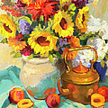 Sunflowers And Copper by Diane McClary