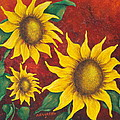 Sunflowers At Sunset by Pamela Allegretto