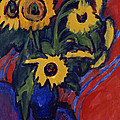 Sunflowers by Ernst Ludwig Kirchner