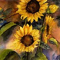 Sunflowers For Cyndi by Maria Hunt