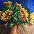 Sunflowers In Copper by Conni  Reinecke