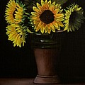Sunflowers In Vase by Paul Tremlin