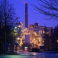 Sunila Pulp Mill By Rainy Night by Ilkka Porkka