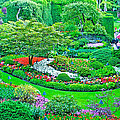 Sunken Garden In Butchart Gardens Near Victoria-british Columbia by Ruth Hager