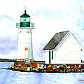 Sunken Rock Lighthouse Ny by Carla Palmer