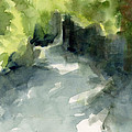 Sunlight And Foliage Conservatory Garden Central Park Watercolor Painting by Beverly Brown Prints