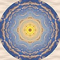 Sunlight Cloud Waves Mandala by Beth Sawickie