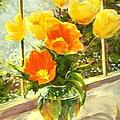 Sunlit Tulips by Madeleine Holzberg