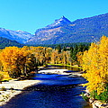 Sunny Autumn Day On A Montana River by John Cole