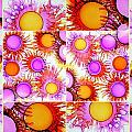 Sunny Happy Abstract Alcohol Inks Collage by Danielle  Parent