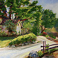 Sunny Lane At Stonycreek Farm For Prints And Greeting Cards And Iphone Covers by Connie Nobbe