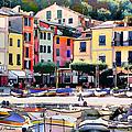 Sunny Portofino - Italy by Linda  Parker