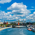 Sunny River And Moscow Kremlin by Alexander Senin