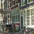 Sunny Street In Amsterdam by Jaroslav Frank