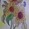 Sunny Sunflowers by K