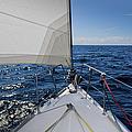 Sunny Yacht Bow by Gary Eason