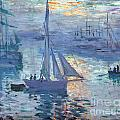 Sunrise - Marine by Claude Monet