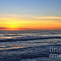 Sunrise And Waves by Deborah Benoit