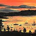 Sunrise At Bar Harbor Maine by Helena Bebirian
