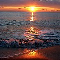 Sunrise At Beach by Laura Stoltzfus