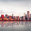 Sunrise At Chicago by Marcin Kopczynski