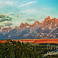 Sunrise At Grand Tetons by Robert Bales