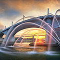 Sunrise At John Ross Landing Fountain by Steven Llorca