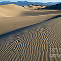 Sunrise At Mesquite Flat Sand Dunes by Sandra Bronstein