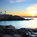 Sunrise At Nubble by Andrea Galiffi