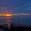 Sunrise At Otter Cliffs by Stuart Litoff