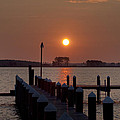 Sunrise At Piney Point Maryland by Bill Cannon