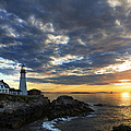 Sunrise at Portland Head Light by Diane Diederich
