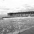 Sunrise At Surfside Bw by Barbara McDevitt