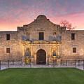 Sunrise At The Alamo San Antonio Texas 1 by Rob Greebon